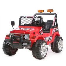 Auto Elettrica Jeep Safari 12V per Bambini 2 Posti  Con telecomando Rossa