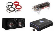 "MTX TNE212D Dual 12"" Car Subwoofers + 1500W Amplifier + 1 Farad Cap + Wiring Kit"