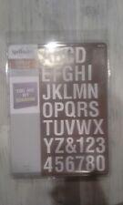 Spellbinders Contour steel rule die - Type-Oh! alphabet set Font