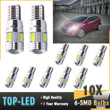 10x T10 501 194 W5W 5630 LED 6SMD HID Canbus Error Wedge Free Light Bulb Lamp