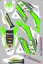 Graphics for 2006-2008 Kawasaki KX250f KX 250f Decal fender shrouds