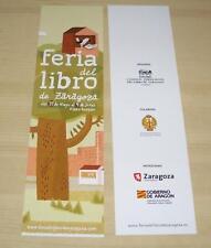 marcapaginas, feria del libro 2013 Zaragoza