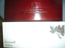 Nice Canada 2012 Farewell 5 Silver Pennies Mint Display Wooden Box and Outer Box