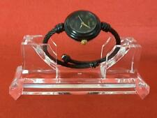 FOREVER Women Black tone Cable Band Ladies Bangle Cuff Wrist Hand Watch **