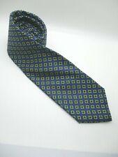 J Press Burlington Knot blue floral foulard made England 100% silk neck tie