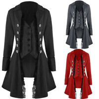 Womens Lace Victorian Corset Rock Steampunk Gothic Coat Tailcoat Cosplay Jacket