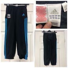 Adidas Liverpool Chándal Pantalones azul marino chicos tamaño 7-8 años (C716)