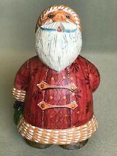 Christmas Figurine Russian Santa w/ heart