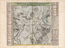Old Vintage Decorative Stars map Centaurus Phoenix Doppelmayr ca. 1742
