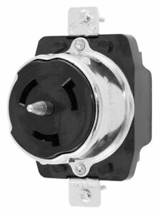Hubbell CS6369 Locking Receptacle, 50 amp, 125/250V, 3 Pole and 4 Wire