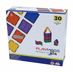 PLAYMAGS GAME Magnetic Squares Tiles 3D Building Blocks Accessory Add On Fun Set