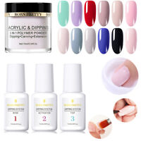 BORN PRETTY Nail Color Dip Dipping Powder NO SMELL & UV Nail Polish Starter Kit
