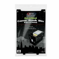 Lot of 3 BCW Comic Book Black Extra Partitions For Graded Bins Plastic Storage
