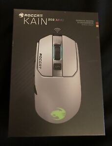 ROCCAT Kain 202 AIMO Wireless RGB Gaming Mouse White ROC-11-615-WE Brand New