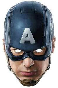 Captain America Avengers Age Of Ultron Offiziell Karte Party Gesichtsmaske Chris