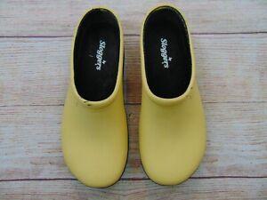 Sloggers Rain Gardening Slip On Waterproof Rubber Yellow Sz 7 Shoes Women's