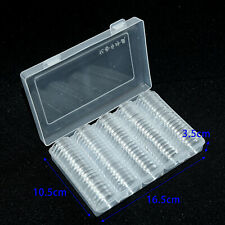 100Pcs 27mm Plastic Round Cases Coin Storage Capsules Holders Containers W/ Box