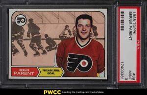 1968 Topps Hockey Bernie Parent ROOKIE RC #89 PSA 9 MINT