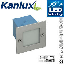 Kanlux Taxi IP54 LED Wall Recessed Outdoor Exterior Spot Brick Light Cool White
