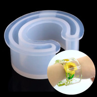 Open Cuff Silicone Mold Jewelry Making Bracelet Bangle Mould Resin Flower DIY