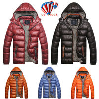 Mens Puffer Bubble Down Coat Quilted Padded Winter Warm Jacket Zipper Outwear US