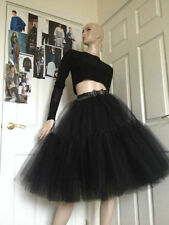 Calf Length Party Patternless Flippy, Full Skirts for Women