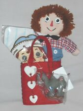 "Raggedy ANDY Gift Bag Set 12""  Hasbro Raggedy  Andy, Camel Key Chain, Washcloth"