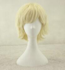 Peluca Cosplay chica de alimentación corto lacio rubias Beige pelucas sintéticas + un casquillo de la peluca