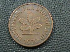 WEST GERMANY  2 Pfennig  1979  -  D  ,  $ 2.99  Maximum  shipping  in  USA
