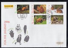 2015 ) Germany FDC 2006  -  1 Big beautiful FDC  Rabbit, Squirrel, Deer, Boar