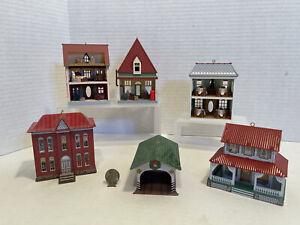 Vintage Miniature Dollhouses for Dollhouse or XMas Tree Dollhouse Miniature 1:12