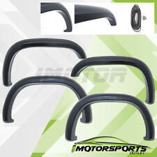 1997-2004 Dodge Dakota Black Front+Rear 4PCS Fender Flares