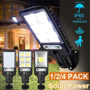 600W Outdoor Wall Mount Solar LED Lights Pathway Motion Sensor Garden Lamp IP65