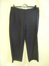 """Ladies Trousers - Land's End, size 10, navy, cotton/linen mix, 27""""L, used - 1031"""