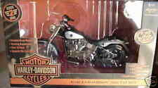 2002 Harley Davidson Fatboy Black Silver 1:10 Ertl American Muscle 33167