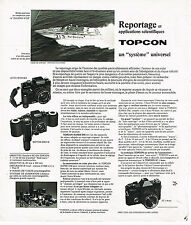 PUBLICITE ADVERTISING 054  1973   TOPCON   objectifs appareils photo caméra