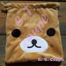 1Rilakkuma San-X relax bear protector NDS pouch 3D cosmetic drawstring bag Japan