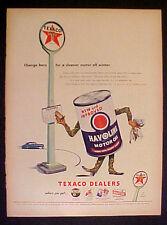 1946 Texaco Sky~Fire~Chief Gas~Havoline Motor Oil~Marfak Memorabilia Trade Ad