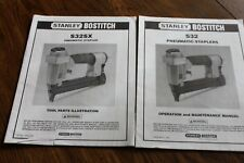 Stanley Bostitch S32 Pneumatic Stapler Operation, Maintenance Manual 1994,S32SX