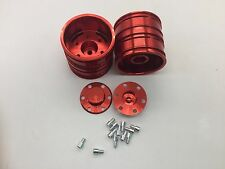 Tractor Truck Aluminum Rear Wheels 2pcs for RC Tamiya 1:14 Tractor Truck Car Red