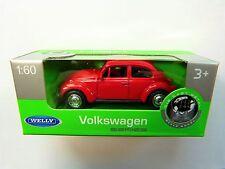 Welly Volkswagen VW Käfer rot in 1:60  Neu & OVP