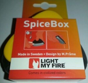 LIGHT MY FIRE FLOATING WATERPROOF 3 PARTITION SPICE BOX GIRL BOY SCOUT CAMP COOK