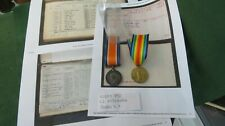 VICTORY/WAR MEDAL PAIR 10253 PRIVATE WILLIAM KITCHING DURHAM LIGHT INFANTRY