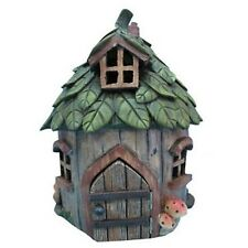 FAIRY GARDEN - House With Leaf Roof - New Garden Decor Figurines