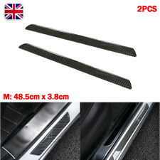 2x M Universal Real Carbon Fiber Car Door Scuff Plate Sill Cover Panel Protector