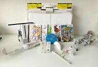 Original Nintendo Wii Bundle - Wii Fit Balance Board, 6 games & Accessories (A)