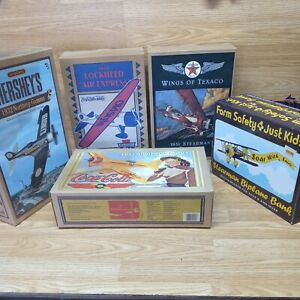 Vintage Diecast Airplane Banks lot 5 (4 ERTL & 1 SPEC CAST) Used Free Shipping
