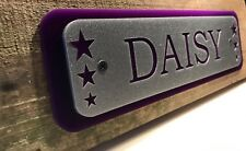 Equestrian stable door horse/pony name plaque sign plate