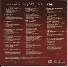 rare CD 70's 80's JOSE JOSE triste NAVE DEL OLVIDO sabras que te quiero 2 ROSAS