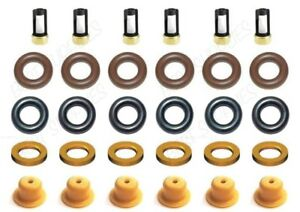 Fuel Injector Repair Service Kit Seals Filters Caps Spacers FOR V6 Ford Mazda